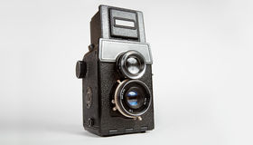 tlr камеры старое Стоковые Изображения RF
