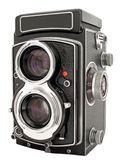TLR Camera. A twin lens reflex 6x6 camera from the 1960's Stock Image