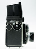 Tlr camera. Vintage tlr camera for decoration Royalty Free Stock Photo