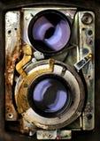 Tlr d'annata di riparazione della macchina fotografica Fotografie Stock