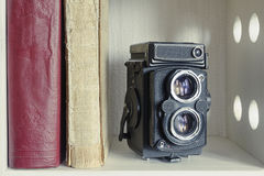 TLR photo camera Royalty Free Stock Photos