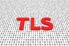 Tls. In the form of binary code, 3D illustration Stock Images