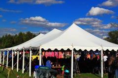 Tält för Oktoberfest Arkivbilder