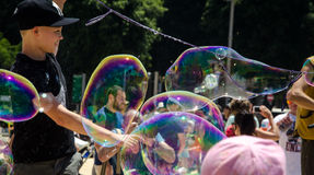 TLV Bubbles Parade Royalty Free Stock Photo