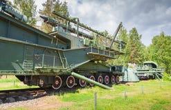 TM-3-12 железнодорожное оружие, форт Krasnaya Gorka Стоковые Изображения RF