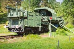 TM-1-180铁路枪 苏联纪念碑 免版税库存图片