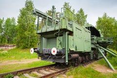 TM-1-180铁路枪 图库摄影