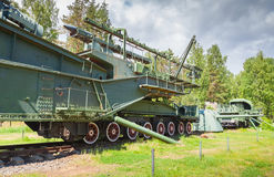 TM-3-12 Railway Gun, Krasnaya Gorka fort Royalty Free Stock Images
