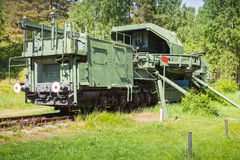 TM-1-180 Railway Gun. Soviet monument Royalty Free Stock Image