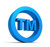 Tm trade mark sign concept illustration Royalty Free Stock Photography