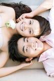 Tâmara cor-de-rosa do branco Fotografia de Stock
