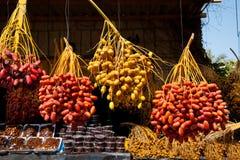 Tâmaras frescas no mercado de Jericho Imagens de Stock
