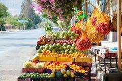 Tâmaras frescas no mercado de Jericho Fotos de Stock Royalty Free