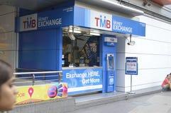 Tmb money exchange in Bangkok Royalty Free Stock Image