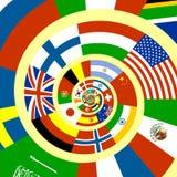 tmisted flaggor Royaltyfri Foto