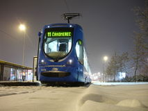 TMK 2200 low-floor tramcar in Zagreb (Croatia) Stock Photos