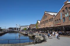 TMV-kaia Trondheim. TMV-kaia, an old old shipyard area with an old drydock now a popular area with reastaurants and shopping centre. Trondheim, Norway Royalty Free Stock Images