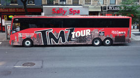 TMZ Tour Bus Royalty Free Stock Photos