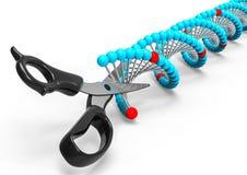 Tnąca molekuła DNA ilustracji