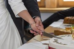 tnące ciasta ślub Obrazy Royalty Free