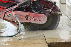 Tnący cement Fotografia Stock