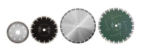 Tnący dyski z diamentami - Diamentowi dyski dla betonu odizolowywają Fotografia Stock