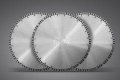 Tnący dyski z diamentami - Diamentowi dyski dla betonu odizolowywają Zdjęcie Royalty Free