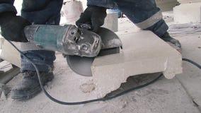 Tnący kamień z saw fow narzędzi urządzeń klucza pracy zbiory wideo