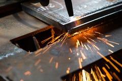 Tnącego metalu spawalnicza maszyna Zdjęcie Royalty Free