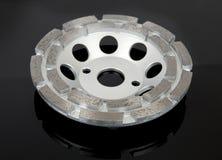 Tnący dyski z diamentami - Diamentowi dyski dla betonu na czarnym tle Zdjęcie Stock