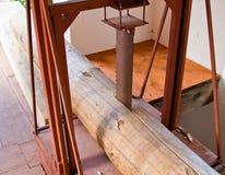 tnący maszynowy stary drewno Obrazy Royalty Free