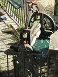 tnący maszynowy stary drewno Zdjęcie Royalty Free