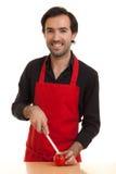tnący szef kuchni tomatoe Obraz Stock
