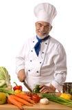 tnący szef kuchni warzywa Zdjęcia Stock