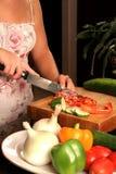 tnący warzywa Zdjęcie Stock