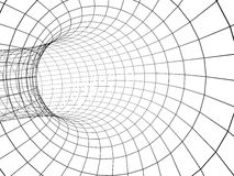 túnel abstracto 3d de una red Foto de archivo libre de regalías