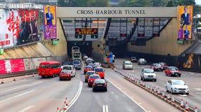 Túnel cruzado del puerto, Hong-Kong Foto de archivo libre de regalías