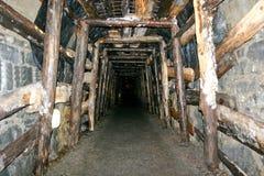 Túnel da mina Fotos de Stock Royalty Free