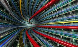 Túnel de los datos Imagen de archivo libre de regalías