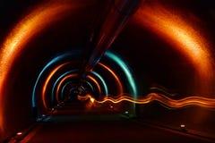 Túnel del acceso - demostración ligera Imagen de archivo libre de regalías