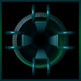 túnel del ladrillo 3d con las escalas Fotografía de archivo libre de regalías