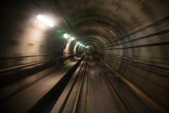 Túnel NYC do metro Foto de Stock