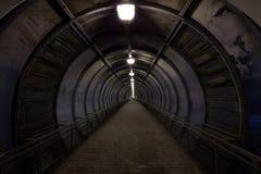 Túnel oscuro Fotografía de archivo libre de regalías