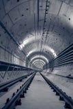 Túnel profundo del metro Imagen de archivo libre de regalías