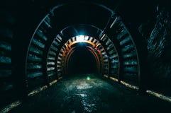 Túnel subterráneo en la mina Foto de archivo