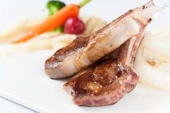 tnij grillowany lamb fotografia stock