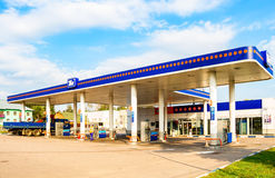 TNK gas station. TNK is one of the largest russian oil companies Royalty Free Stock Images