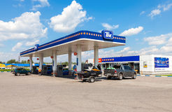 TNK gas station. TNK is one of the largest russian oil companies Royalty Free Stock Photography