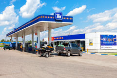 TNK gas station. TNK is one of the largest russian oil companies Royalty Free Stock Image