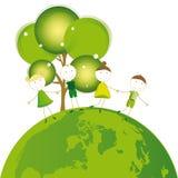 Tänk green Arkivbilder